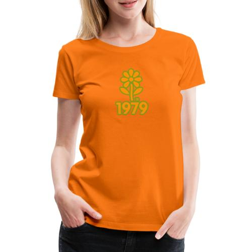 1979 yellow flower - Frauen Premium T-Shirt