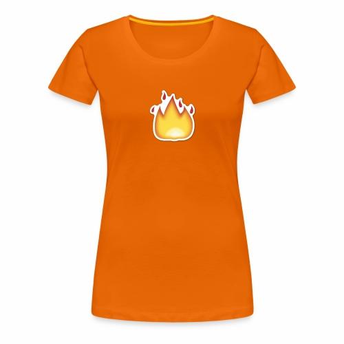 Liekkikuviollinen vaate - Naisten premium t-paita