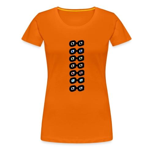 DEEVY Eyes Design - Women's Premium T-Shirt