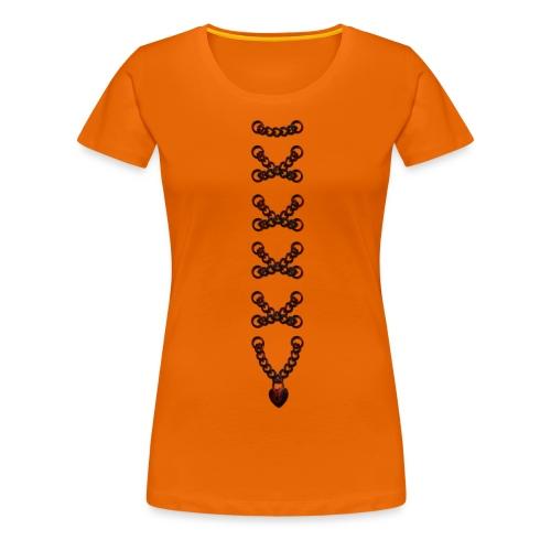 Mieder Korsage Herz Kette - Frauen Premium T-Shirt