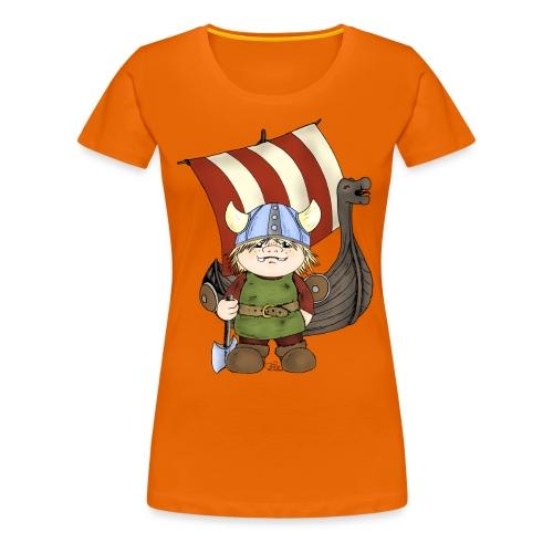 Wikinger Erik mit Schiff - Frauen Premium T-Shirt