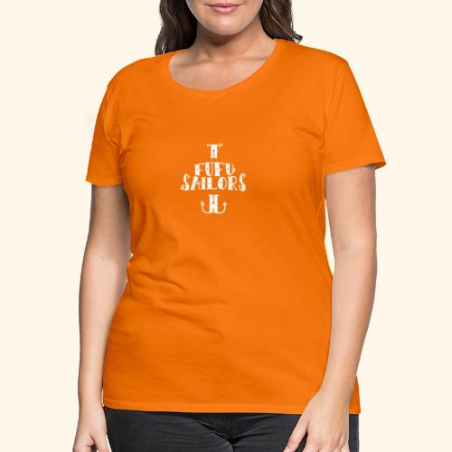 fufu anchor white - Women's Premium T-Shirt