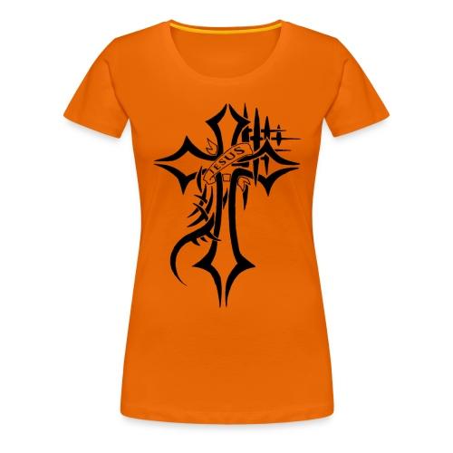 cross - Premium T-skjorte for kvinner