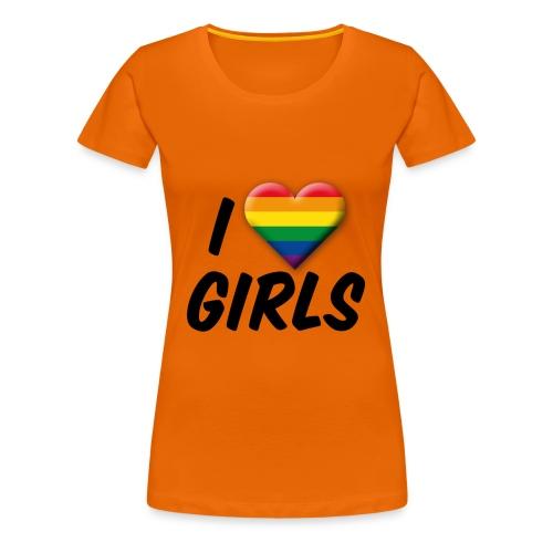 ilovegirls - Frauen Premium T-Shirt