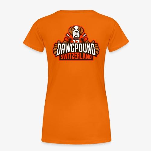 Barry auf Rücken mit offiziellem Logo auf Ärmel - Frauen Premium T-Shirt