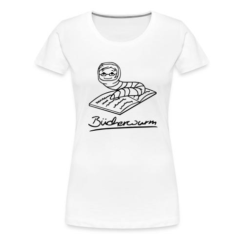 Bücherwurm 1 - Frauen Premium T-Shirt