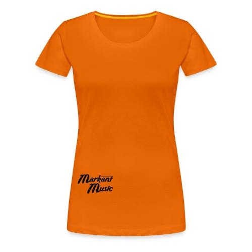 markant music schriftzug schwarz - Frauen Premium T-Shirt