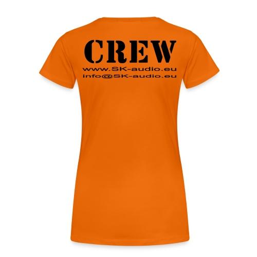 skaudio crew hintenkurve - Frauen Premium T-Shirt
