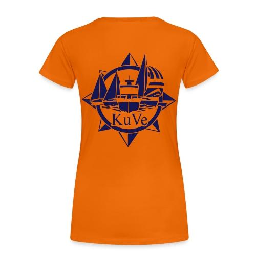 KuVe_musta - Naisten premium t-paita