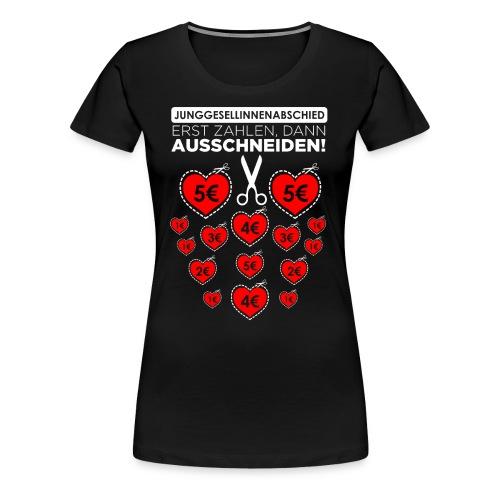 Bitte ausschneiden! - Frauen Premium T-Shirt