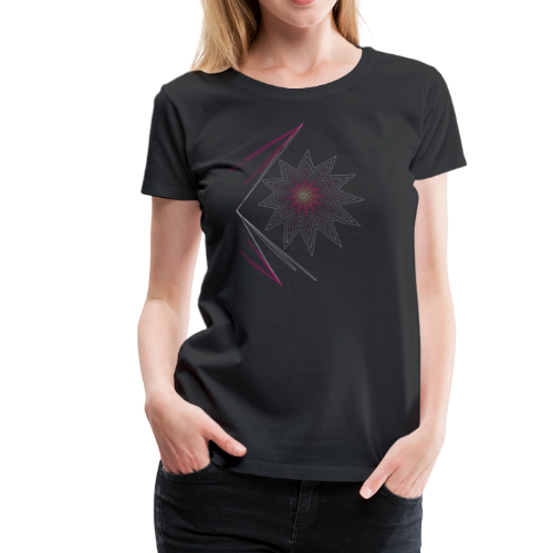 pink explosion-Explosion in pink, Stern Feuerwerk - Frauen Premium T-Shirt