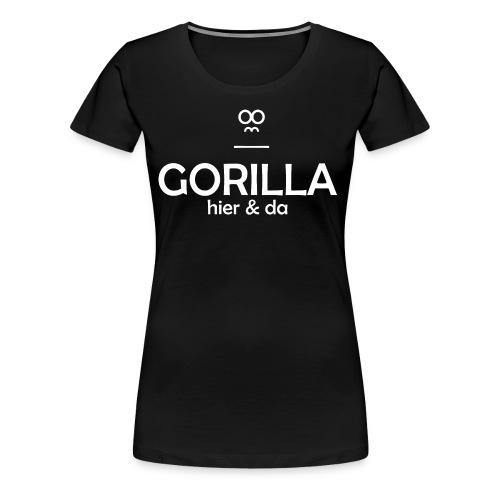 Gorilla hier & da Logo - Frauen Premium T-Shirt