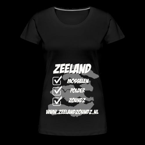Mosselen - Polder - ZoundZ - Vrouwen Premium T-shirt
