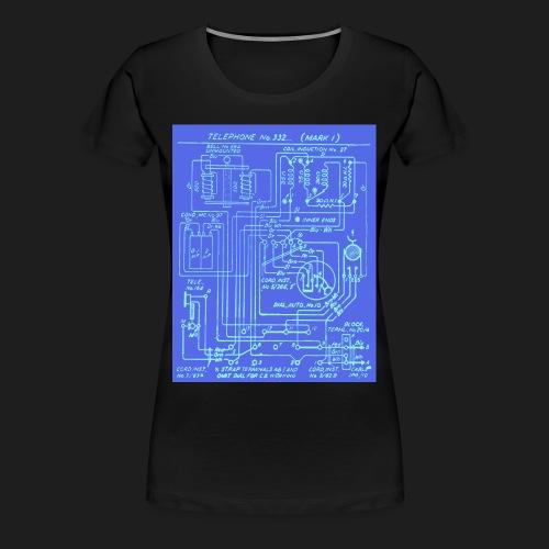 Telephone Circuit - Women's Premium T-Shirt