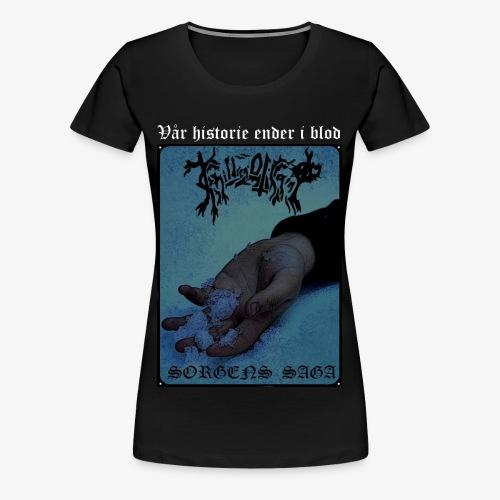Sorgens Saga farget - Premium T-skjorte for kvinner