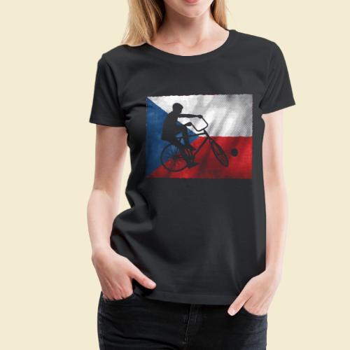 Radball   Flagge Tschechien - Frauen Premium T-Shirt