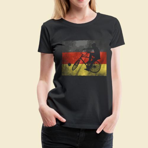 Radball   Flagge Deutschland - Frauen Premium T-Shirt