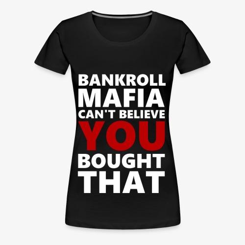 BANKROLLWHITERED - Maglietta Premium da donna