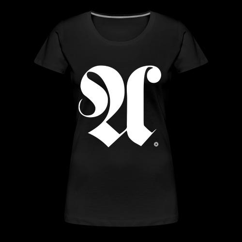 ALPHABET x A x BEARING x WHITE - Frauen Premium T-Shirt