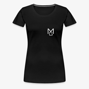 White MG Overlay - Women's Premium T-Shirt