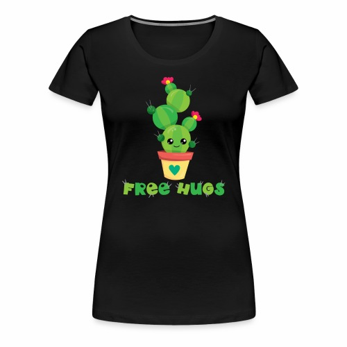 FREE HUGS - Kakteen Comic Kaktus Geschenk Shirts - Frauen Premium T-Shirt