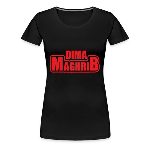 Moroccan national team -DIMA MAGHRIB - Vrouwen Premium T-shirt