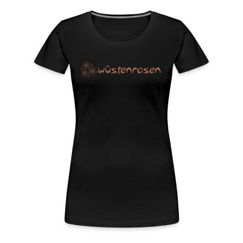 Rosen mit Schriftzug - Frauen Premium T-Shirt