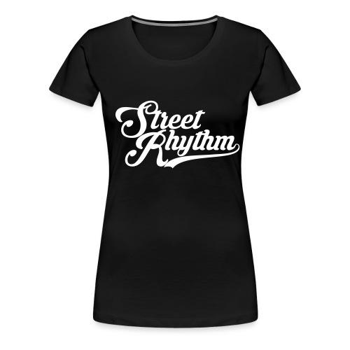 StreetRhythm white - Frauen Premium T-Shirt