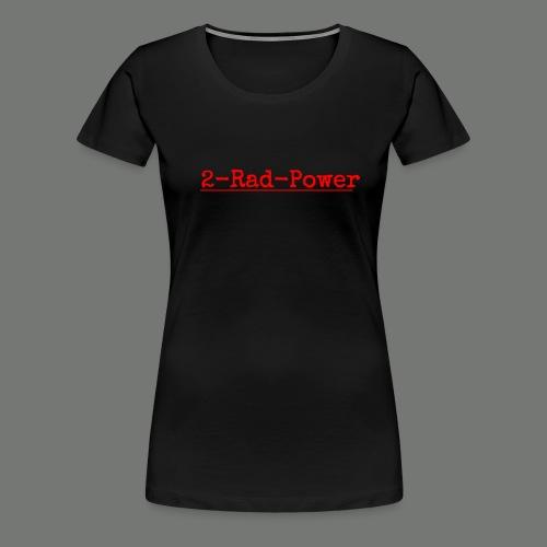 2-Rad-Power Logo Rot/Schwarz - Frauen Premium T-Shirt