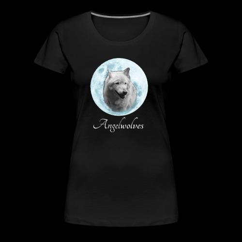 Weisser Wolf Angelwolves - Frauen Premium T-Shirt