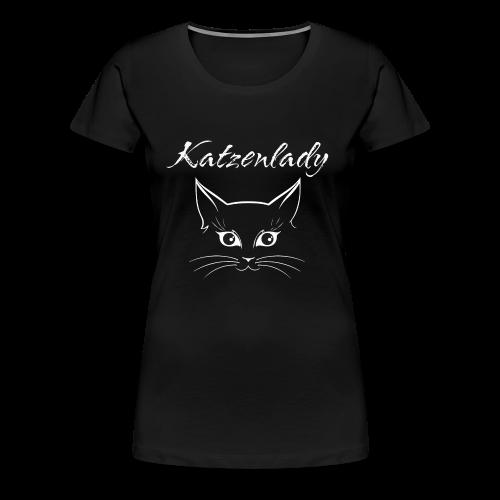 Katzen T-Shirt - Katzenlady - Frauen Premium T-Shirt