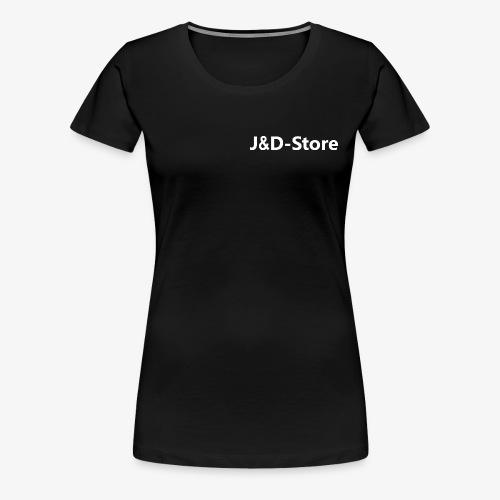 Schwarze Klamotten mit weißer J&D-Shop Schrift - Frauen Premium T-Shirt