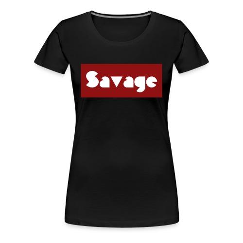 Savage. Stylischer Schriftzug - Frauen Premium T-Shirt