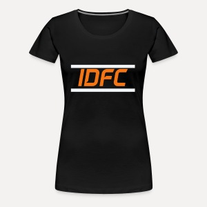 IDFC | Orange/White - Frauen Premium T-Shirt