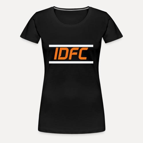 IDFC | Orange/White - Frauen Premium T-Shirt