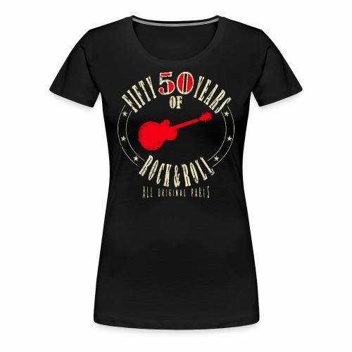 50. Geburtstag - Fifty Years Of Rock & Roll - Frauen Premium T-Shirt