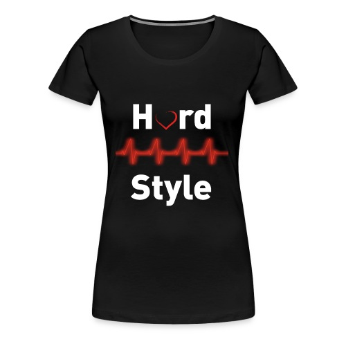Hardstyle Heartbeat - Frauen Premium T-Shirt