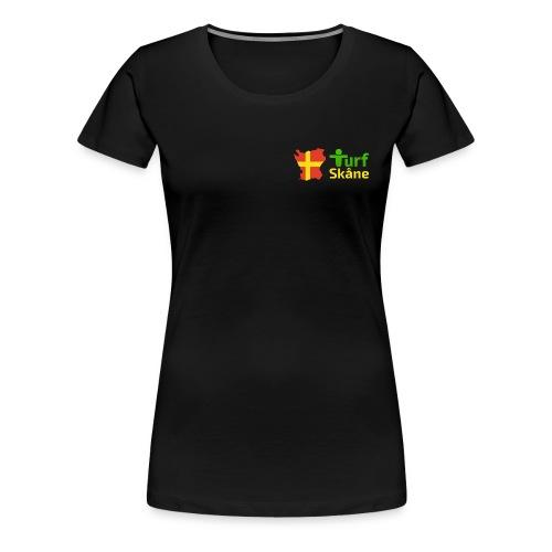 Turf Skåne Logo gul - Premium-T-shirt dam