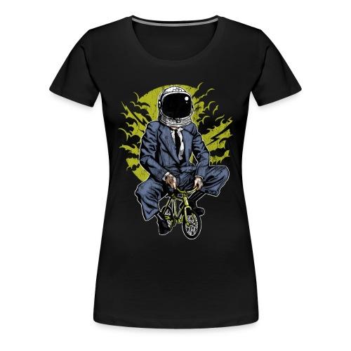 ZUM MOND FAHREN - Astronauten Radfahrer Geschenk - Frauen Premium T-Shirt