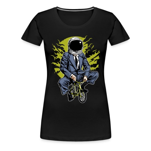 MOND RADLER - Kosmonauten Radfahrer Geschenk Shirt - Frauen Premium T-Shirt