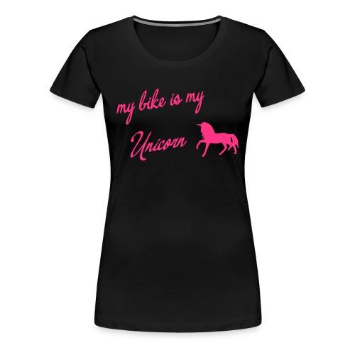 my bike my unicorn - Frauen Premium T-Shirt