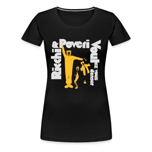 Black Poveri - Maglietta Premium da donna