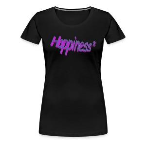 Happiness² - Vrouwen Premium T-shirt