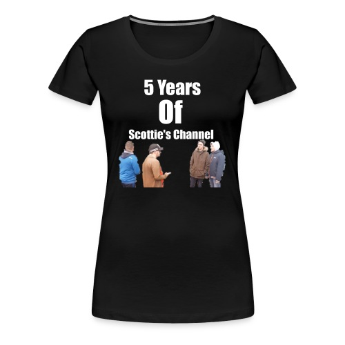 5 Years Of Scottie's Channel - Women's Premium T-Shirt