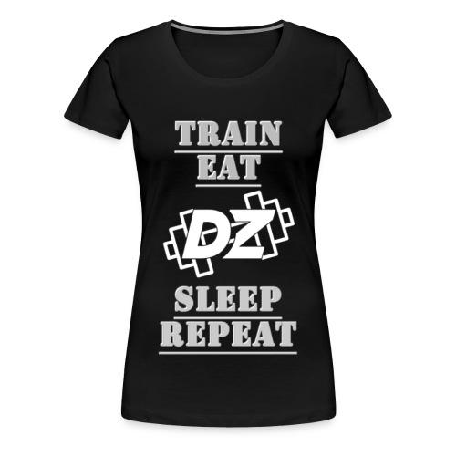 Train, Eat, Sleep, Repeat - Trainingsmotivation - Frauen Premium T-Shirt