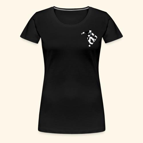 camouflage schwarz snowboarda Von Nuke - Frauen Premium T-Shirt