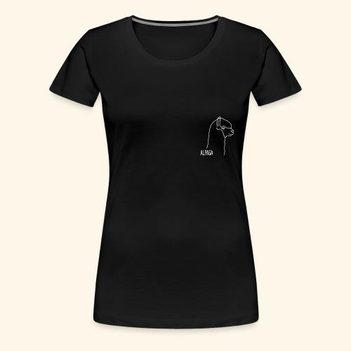 Alpaga blanc - T-shirt Premium Femme
