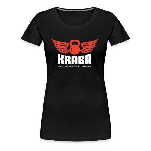 KRABA Logo rot/weiß - Frauen Premium T-Shirt