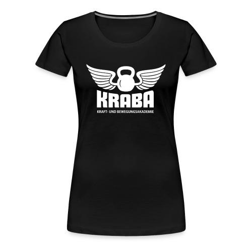 KRABA Logo weiß - Frauen Premium T-Shirt