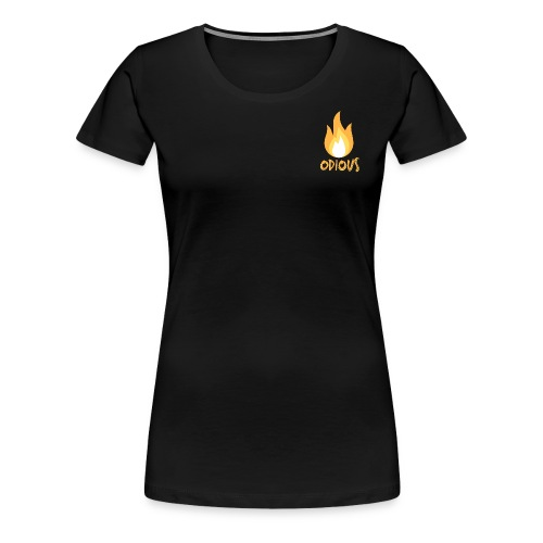 odious flame outlined - Vrouwen Premium T-shirt